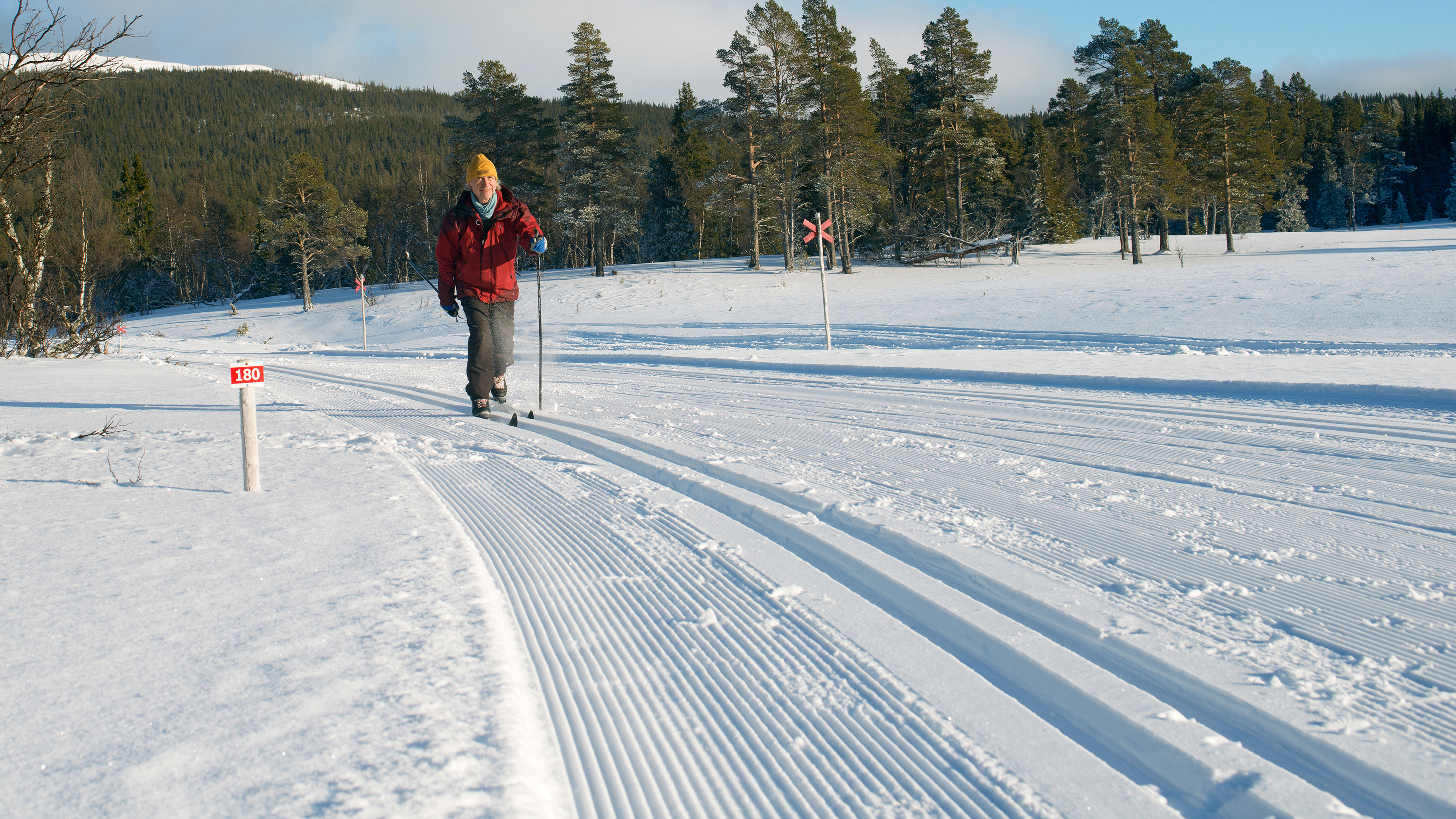 Mats på skidspåret Vallbo–Vålådalen 20180218